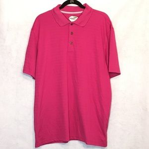 Grand Slam Fuchsia Pink Solid Slim Fit Polo Shirt